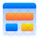 Layout Wireframe Graphic Editor Icon
