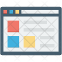 Layout Template Web Icon