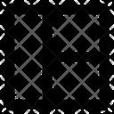 Website Layout Half Wireframe Icon