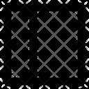 Website Layout Half Vertical Alternative Wireframe Icon