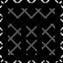 Website Layout Three Wireframe Icon