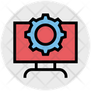 Lcd Setting Gear Cog Wheel Icon