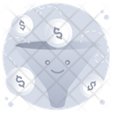 Money Filter Lead Generation Business Filtration Icon