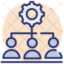 Lead Management Human Resource Management Team Configuration Icon