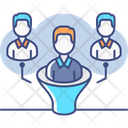 Lead Qualification Qualification Team Funnel Icon