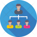 Leader Manager Hierarchy Icon