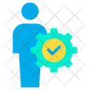 Businessman Manager Strategy Icon