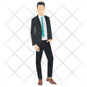 Businessman Entrepreneur Welcome Icon