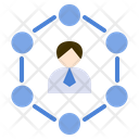 Leader Connection Business Icon