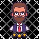 Personnel Man Staff Icon