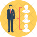 Leader Manager Collaboration Icon