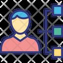 Leadership Project Team Supervisor Icon