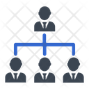Business Hierarchy Leader Icon