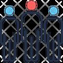 Leadership Businessman Team Icon