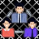 Team Lead Leadership Team Building Icon