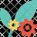 Leaf Cog Cogwheel Icon