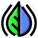 Leaf Water Ecology Icon
