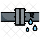 Leaking Pipe Repair Leak Construction And Tools Icon