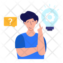 Educational Idea Learn To Think Learning Innovation Icon