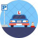 Learner Driving Parking Sign Icon