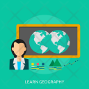 Learning Geography Education Icon