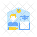 Learning From Home Icon