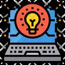 Laptop Lightbulb Education Icon