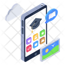 Mobile Learning Online Education Learning Interface Icon