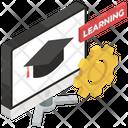 Learning Management Knowledge Creativity Custom Design Icon