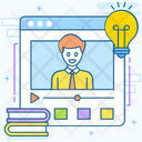Online Tutorial Online Guide Online Lesson Icon