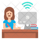 Learning Student Exam Online Icon