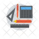 Learning Tool Study Tool Mathematics Geometry Icon