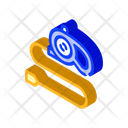 Dog Leash Isometric Icon