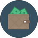 Leather Wallet Notecas Icon