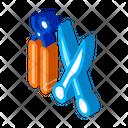Leather Craft Scissors Icon