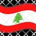 Flag Country Lebanon Icon