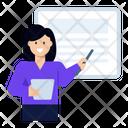 Workshop Presenter Office Presentation Icon