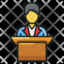 School Teacher Orator Classroom Lecture Icon