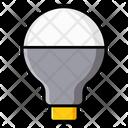 Led Bulb Light Luminous Icon