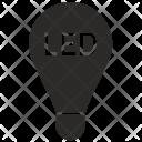 Led Lamp Lighting Icon