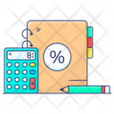 Ledger Data Recording Balance Sheet Icon