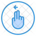 Left Finger Gesture Icon