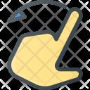 Left Swipe Gesture Icon