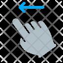 Left Swipe Finger Icon
