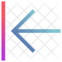 Left Barrier Pointing Icon