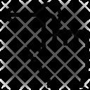 Left Arrow Tap Icon