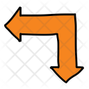 Left Down Arrows Icon