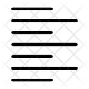 Left Alignment Format Icon