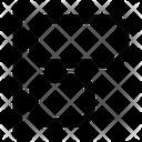 Left Align Horizontal Align Icon
