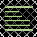 Left Align Alignment Icon